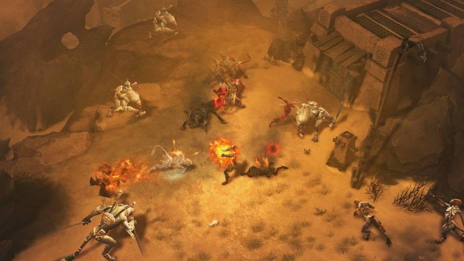 Diablo III apresenta um ambiente rico em detalhes e itens que podem ser destruídos pelo jogador