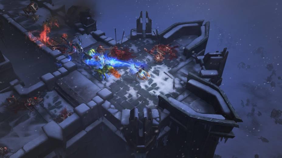 O combate em Diablo III acontece tanto ao ar livre, quanto em cavernas e construções abandonadas