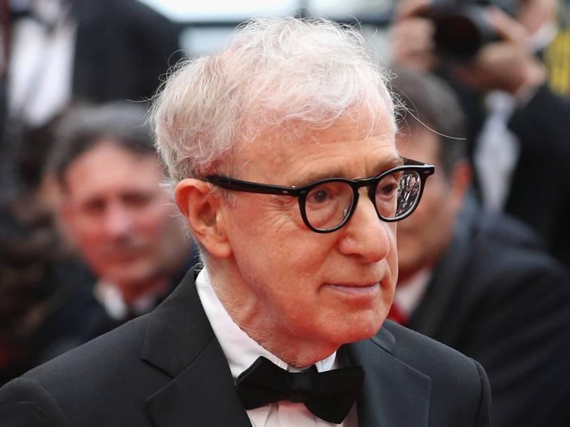 Woody Allen na abertura da 69ª edição do Festival de Cannes, onde apresentou seu  filme Cafe Society