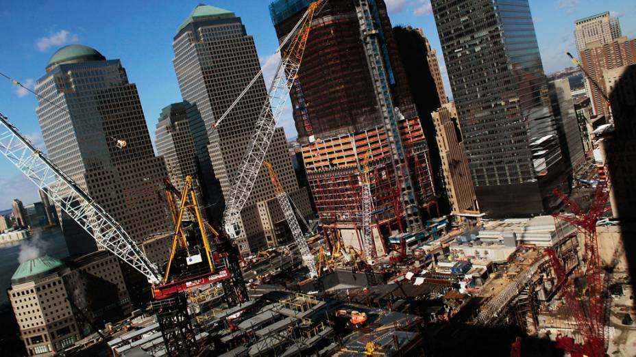 Construção do One World Trade Center em Nova York