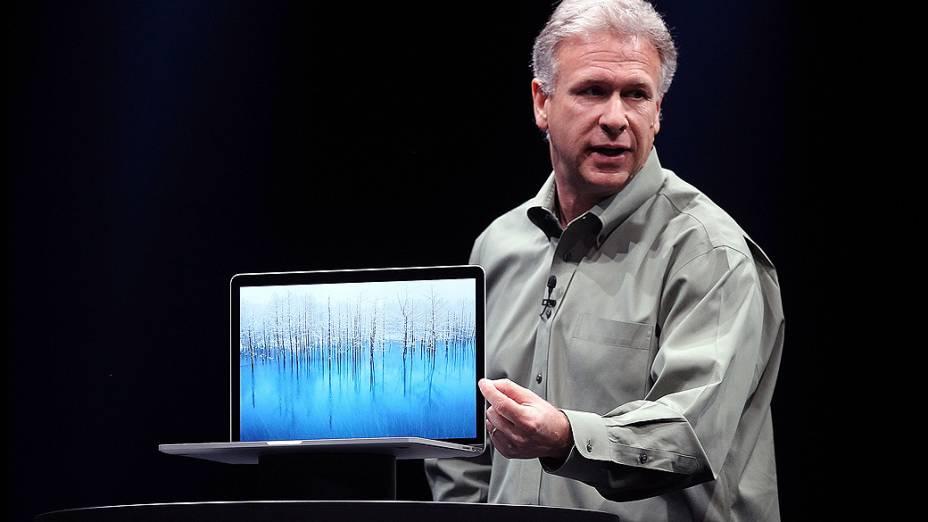 Phil Schiller anuncia o novo MacBook Pro, em São Francisco<br>
