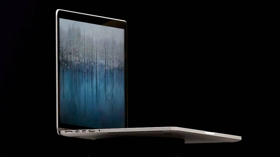 Novo MacBook Pro apresentado durante a WWDC, em São Francisco