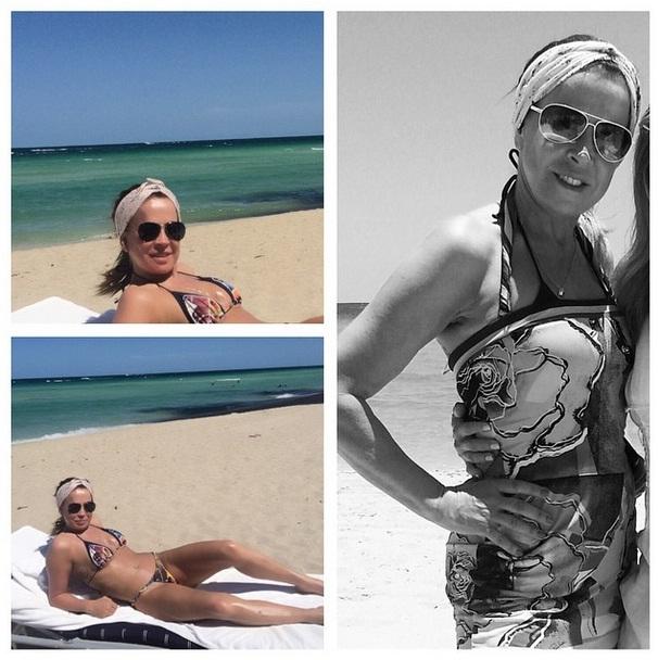 Zilú Camargo aproveita o verão em Miami, nos Estados Unidos
