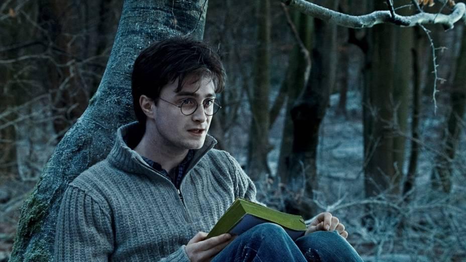 Daniel Radcliffe, intérprete de Harry Potter, em cena de <em>Harry Potter e as Relíquias da Morte</em>, 2010
