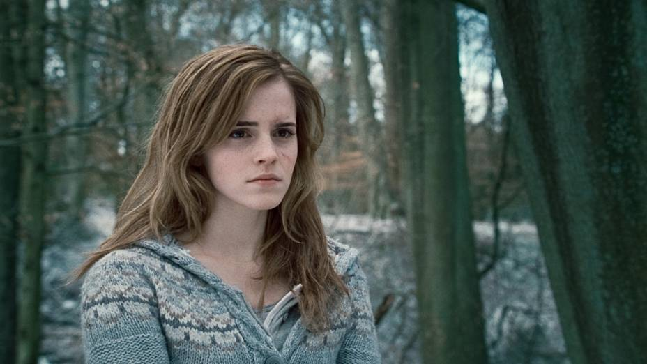 Emma Watson, Hermione Granger, em cena de <em>Harry Potter e as Relíquias da Morte</em>, 2010