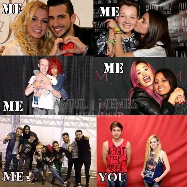 Ao contrário de outros artistas, Avril Lavigne parece preferir manter distância de seus fãs