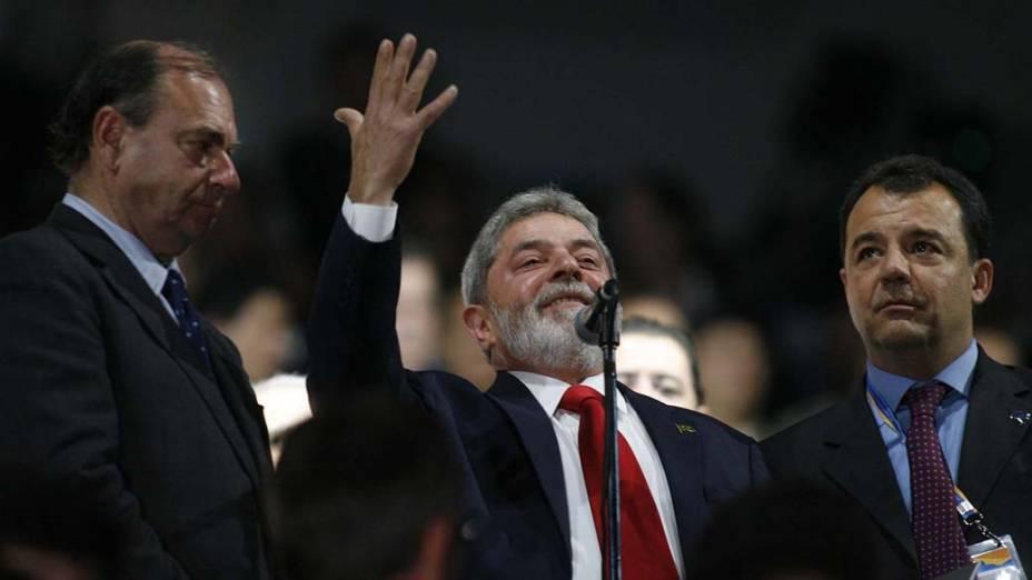 O presidente Luiz Inácio Lula da Silva foi vaiado durante a cerimônia de abertura dos Jogos Pan-Americanos, em 2007, no Maracanã