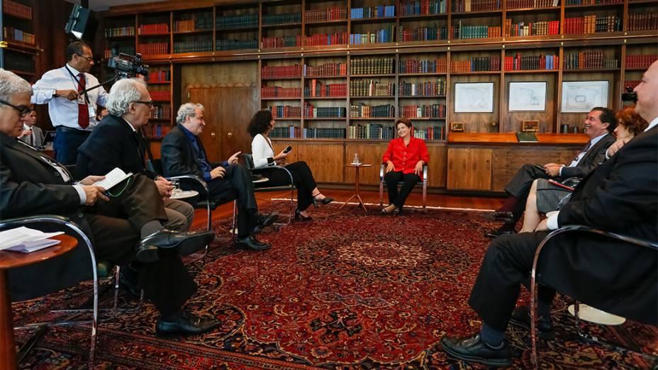 Presidente e candidata a reeleição, Dilma Rousseff, participa da série de entrevista de O Globo em Brasília (DF) - 12/09/2014