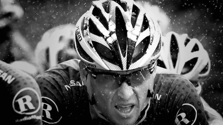 O ciclista americano Lance Armstrong, durante a segunda etapa da Volta da França