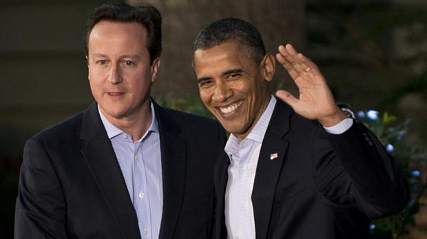 David Cameron, premiê britânico, e Barack Obama, presidente americano
