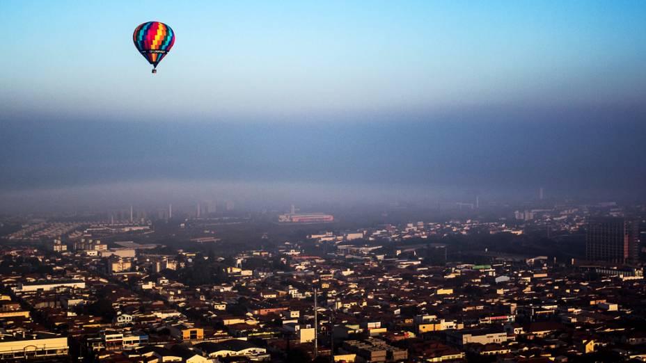 Cenas da cidade de Rio Claro (SP) durante o 21º Mundial de Balonismo