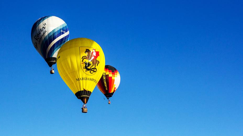 A última edição do Mundial de Balonismo foi realizada em Battle Creek, nos Estados Unidos