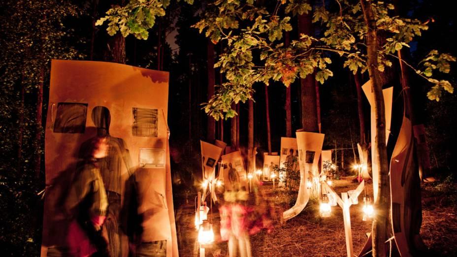 Dream Module, atividade noturna durante o 22º Acampamento Mundial Escoteiro, em Rinkaby, na Suécia