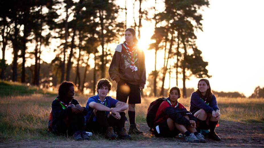 Participantes do 22º Acampamento Mundial Escoteiro, na Suécia