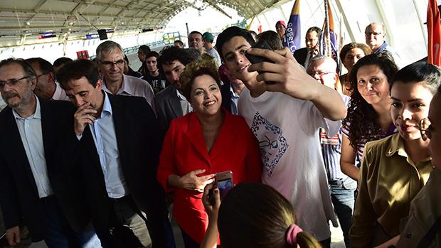 Dilma em Novo Hamburgo, em 22/08/2014