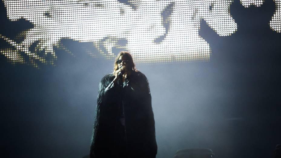Jared Leto do 30 Seconds to Mars durante apresentação no Rock in Rio 2013