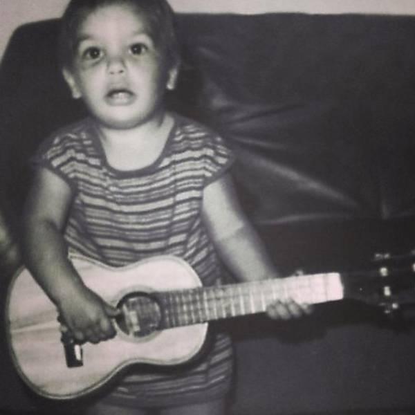 A cantora Ivete Sangalo quando criança
