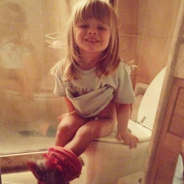 Fiorella Mattheis quando criança