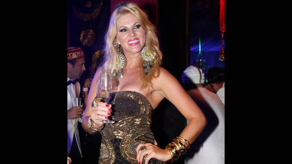 Val Marchiori no baile de Carnaval do Copacabana Palace, no Rio