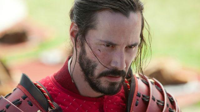 Keanu Reeves no papel do samurai mestiço Kai, no filme 47 Ronins