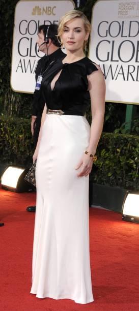 A atriz britânica Kate Winslet no Globo de Ouro 2012