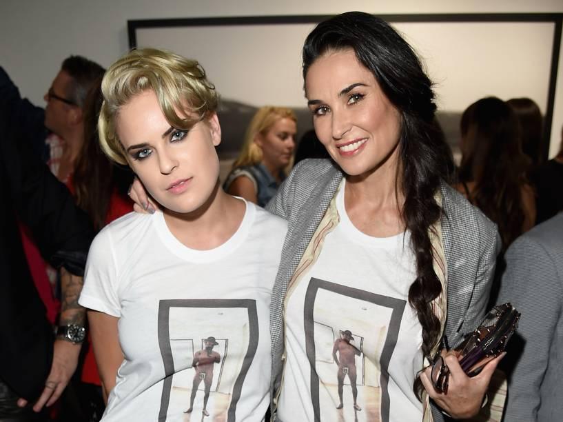 A atriz Demi Moore e sua filha Tallulah Willis