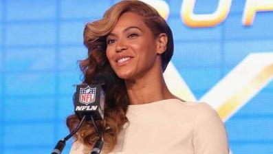 A cantora Beyoncé durante entrevista coletiva