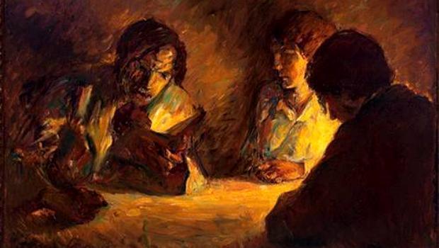 A Leitura (1914), de Lasar Segall, foi uma das obras perdidas no incêndio