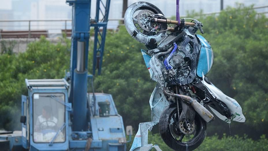 A moto do piloto português Luís Carreira