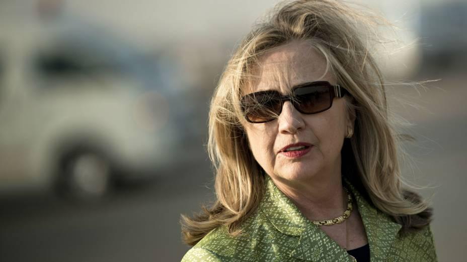 A secretária de Estado americana, Hillary Clinton, no Egito