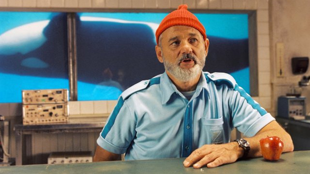 O ator Bill Murray em A Vida Marinha com Steve Zissou (2004)