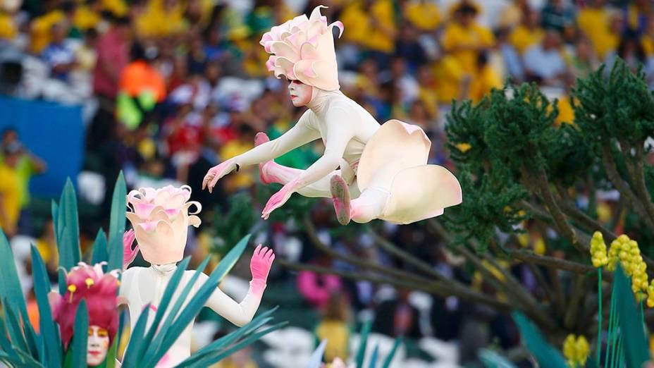 Cerimônia de abertura da Copa do Mundo, em São Paulo