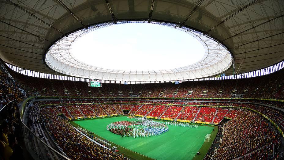 Cerimônia de abertura da Copa das Confederações no Mané Garrincha, em Brasília