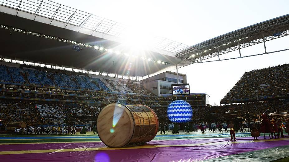 Cerimônia de abertura da Copa do Mundo no Itaquerão, em São Paulo
