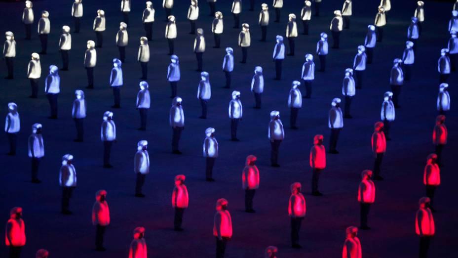 Cerimônia de abertura dos Jogos Olímpicos de Sochi, na Rússia