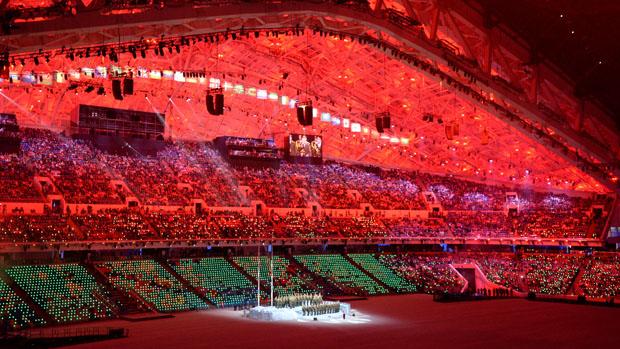 Apresentação militar nos Jogos de Inverno 2014