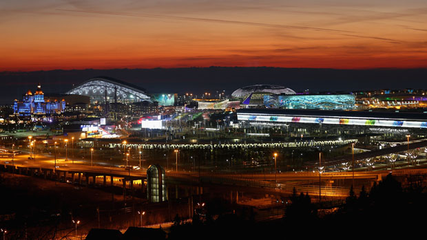 Vista geral do Parque Olímpico de Sochi, na Rússia