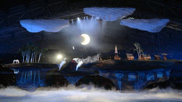 Cerimônia de Abertura dos Jogos Olímpicos de Inverno Sochi, na Rússia