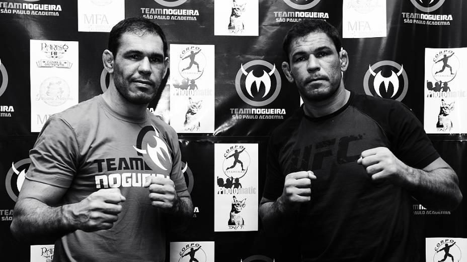 Rogério Minotouro e Rodrigo Minotauro participaram da inauguração da primeira academia do Team Nogueira em São Paulo