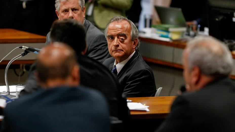 Nestor Cerveró - Sessão da CPI mista Petrobras destinada a acareação entre os dois ex-diretores da Petrobras Paulo Roberto Costa (Abastecimento) e Nestor Cerveró (Internacional), nesta terça-feira (02), no Congresso, em Brasília