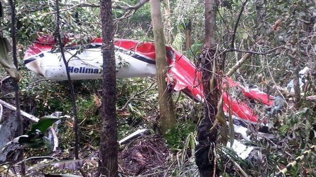 Local da queda dehelicóptero em Bertioga, no litoral de São Paulo