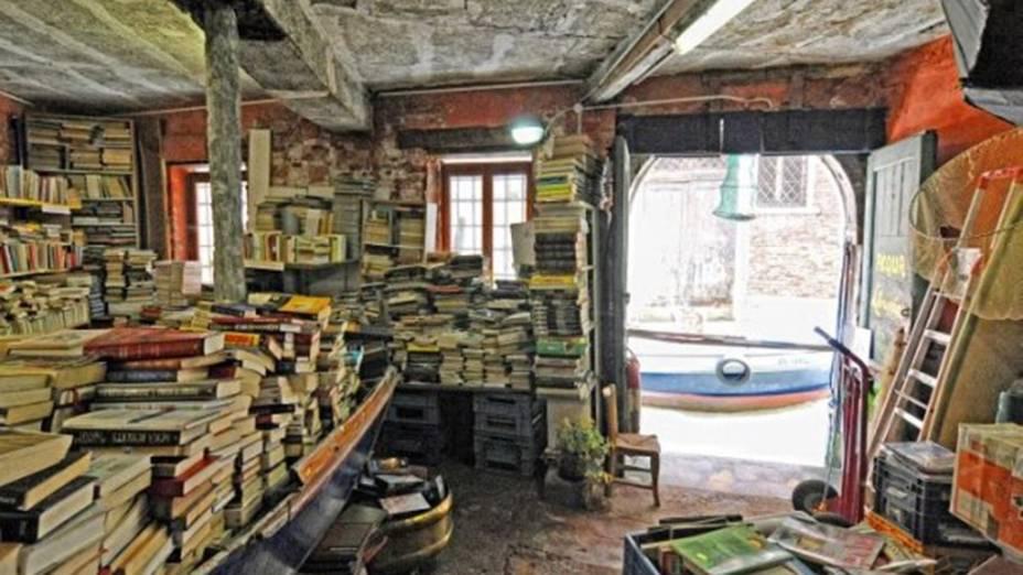Librería Acqua Alta em Veneza, Itália