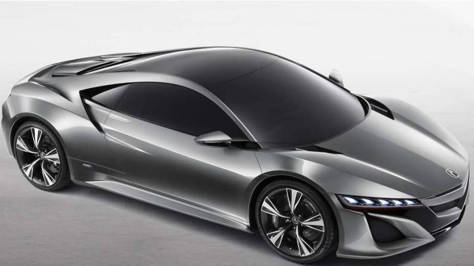 Acura NSX Concept - O superesportivo chega a Detroit com visual renovado, motor híbrido V6 e 405 cavalos e tração nas quatro rodas