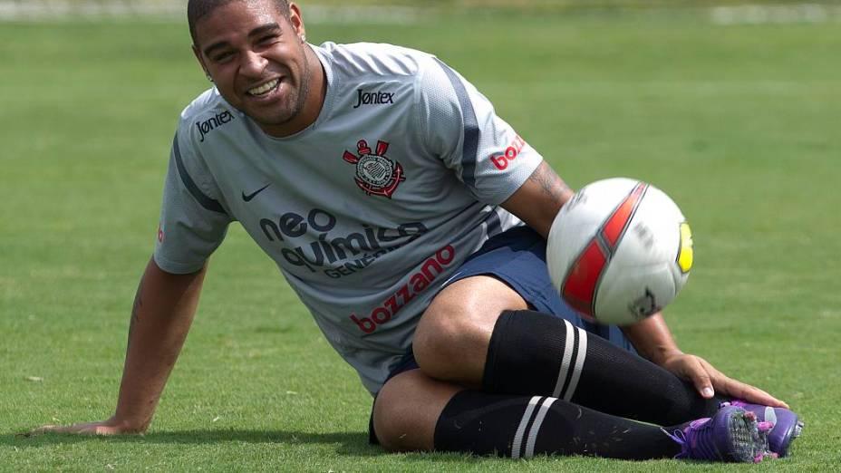 Adriano, atacante, em sua passagem pelo Corinthians, em 2011