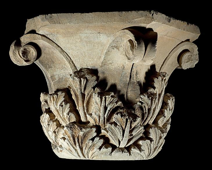 Topo de coluna coríntia, de 145 a.C., do Museu Nacional do Afeganistão