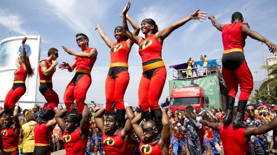 Desfile do bloco do Afroreggae em Ipanema