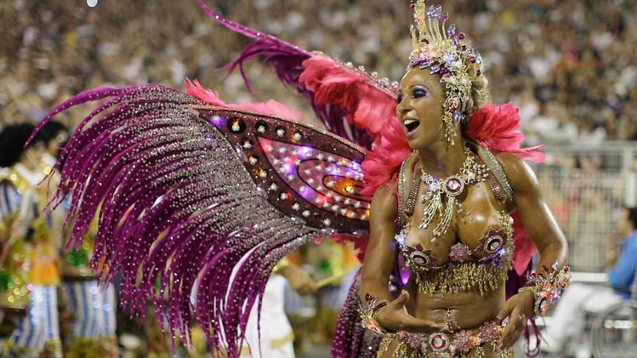 Valeska Popozuda, rainha de bateria da Águia de Ouro, em São Paulo