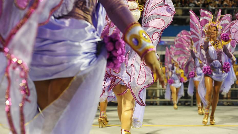 Desfile da escola de samba Vai-Vai, em São Paulo