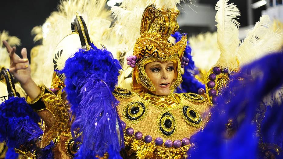 Desfile da escola de samba Vai-Vai, no sambódromo do Anhembi
