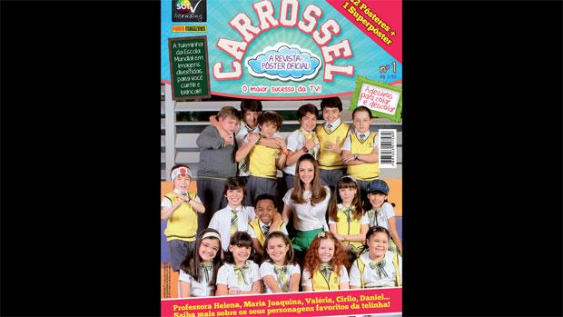 Capa da revista-pôster oficial de <em>Carrossel</em>